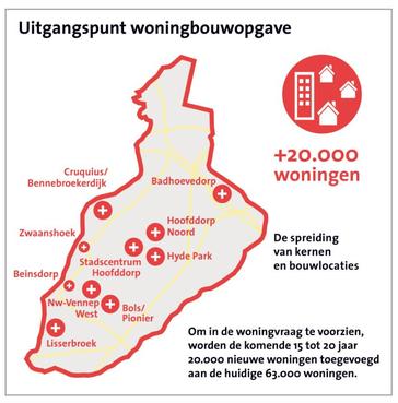 Haarlemmermeer zet woningbouwplannen op een rij: komende jaren worden altijd wel ergens huizen gebouwd