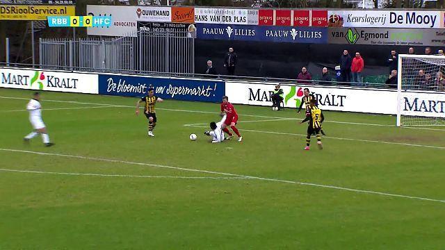 Bekijk hier de doelpunten van Rijnsburgse Boys - Koninklijke HFC [video]