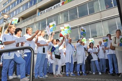 Verpleegkundigen Rode Kruis Ziekenhuis Voeren Actie Voor Een
