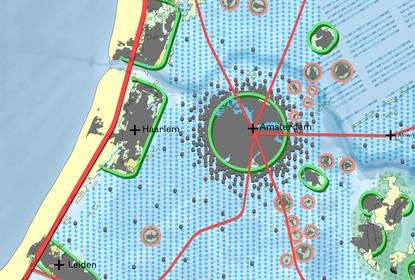 Ligt Haarlem in 2200 door de zeespiegelstijging op een eiland?