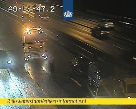Kettingbotsing op A9 bij Rottepolderplein [update]