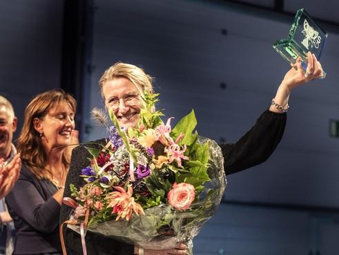 Guts Award voor Andrea van de Graaf, 'onderneemster met meeste lef in Haarlemmermeer'