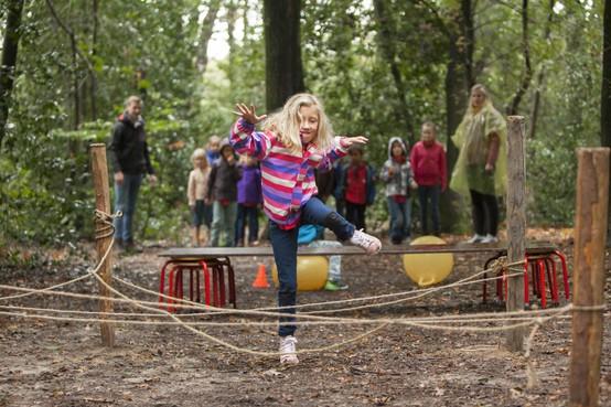 Scoutinggroep Radboud uit Santpoort-Zuid zet zaag in hulst en eik voor opknapbeurt speelbos