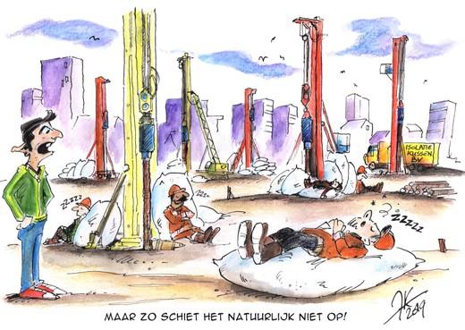 Horendol van heien en boren. Overlast van bouwwerkzaamheden in Haarlem-Schalkwijk: 'We trekken het niet meer'