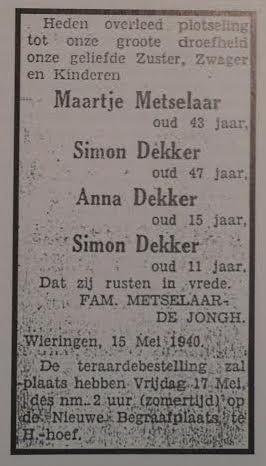 Wieringer visserman Simon doodt uit angst voor de nazi's zijn hele gezin; het drama op De Hoelm