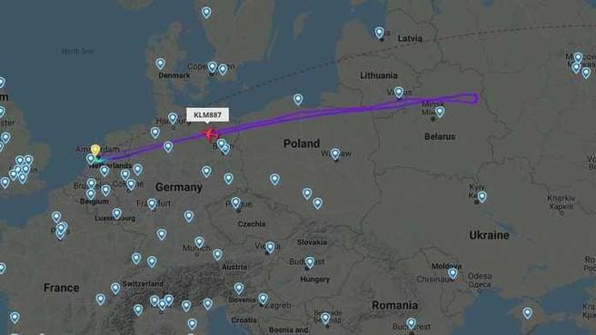 KLM-vlucht richting Hong Kong plots terug naar Amsterdam