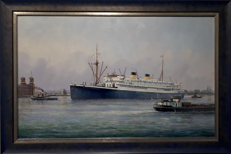 Schilder Willem Eerland is gek van schepen: 'Ieder papiertje verpest ik met bootjes'