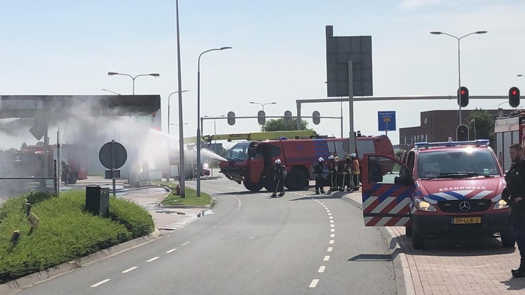 Grote brand in Shell-tankstation Oude Meer [video]