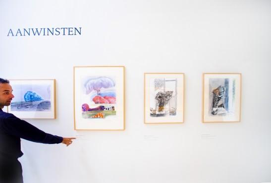 Geschonken werk Jaap Ploos van Amstel te zien op op aanwinstenwand Teylers Museum