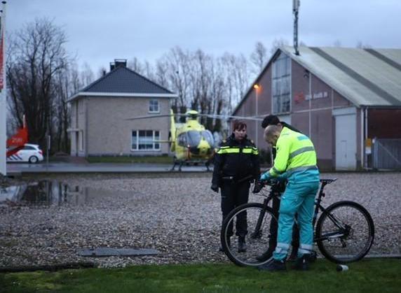 Traumahelikopter ingezet voor ernstig gewonde fietser in Lijnden