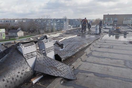 Nasleep storm Ciara: reparatiewerk aan beschadigde Velserbroekse woningen gestart